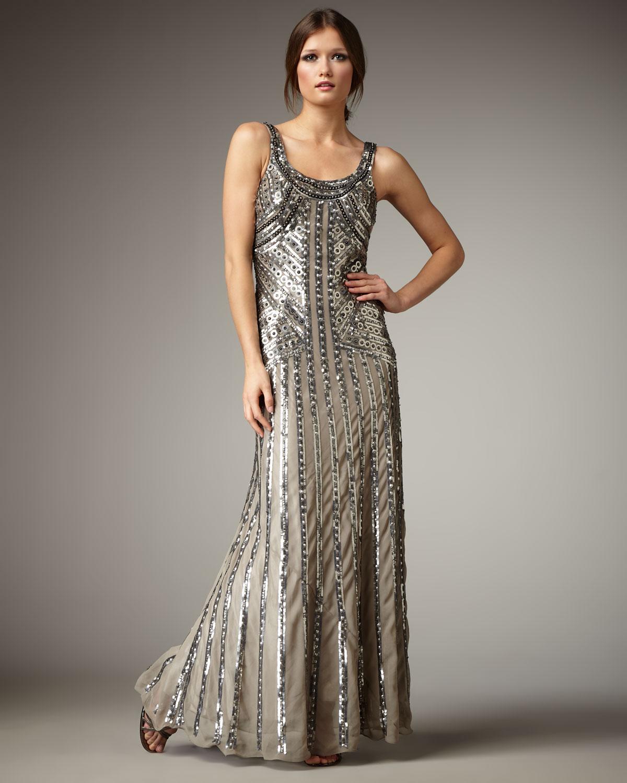 Aidan Mattox Beaded Deco Dress – Dresses for Woman