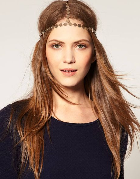 Asos Collection Asos Disc Crown Head Band in Gold