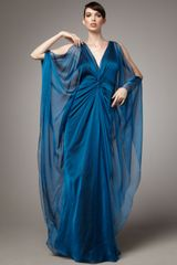 Badgley Mischka Caftan Gown - Lyst