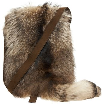 Balmain Raccoon Saddle Bag - Lyst
