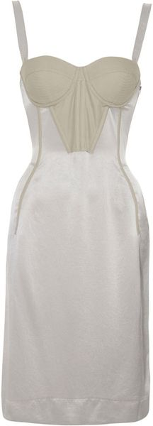 Bottega Veneta Bustier Dress - Lyst