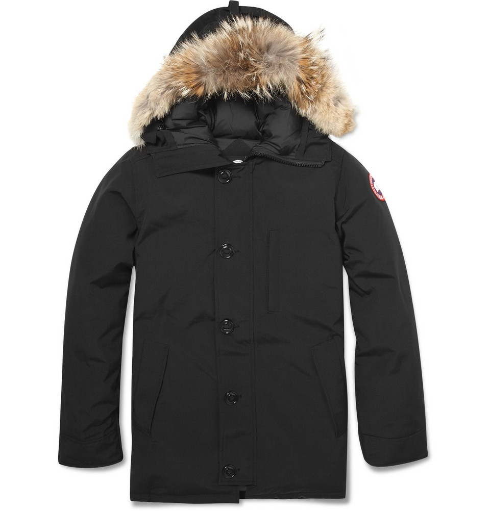 canada goose chateau coyote-trimmed parka jacket
