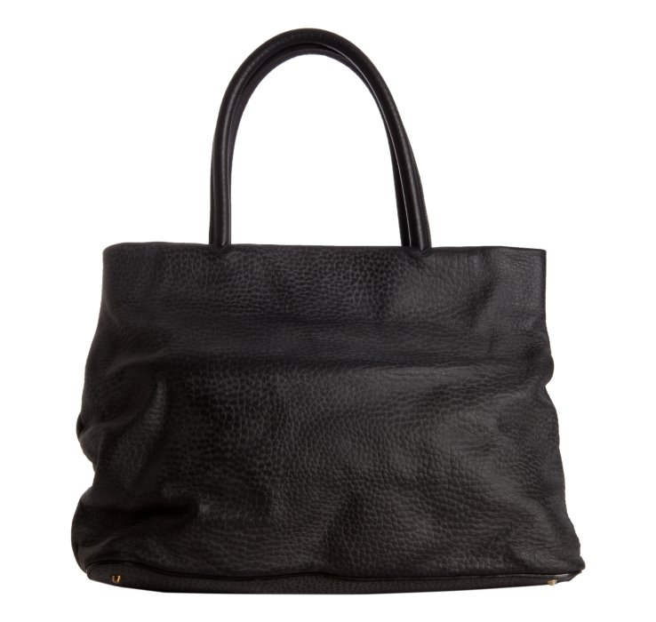 Chlo¨¦ Black Pebbled Leather Sally Tote in Black | Lyst