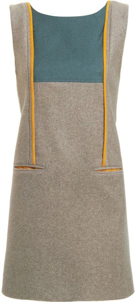 Fendi Sleeveless Shift Dress in Gray (grey) - Lyst