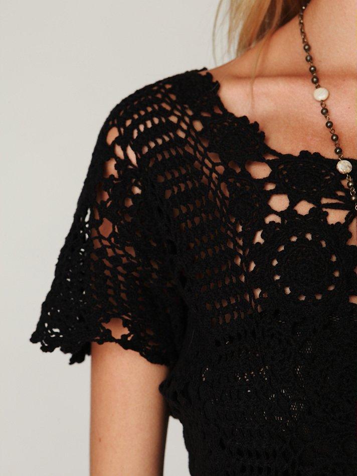 Lyst Free People Hand Crochet Maxi Dress In Black