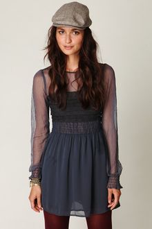 Free People Vintage Lace Long Sleeve Dress - Lyst