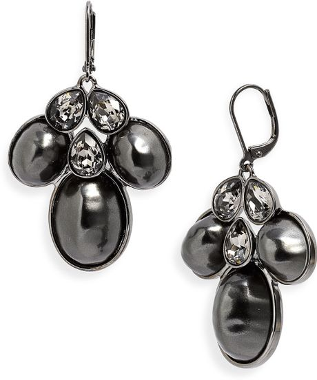 Red Givenchy Chandelier Earrings: Givenchy Tuileries Pearl Chandelier Earrings In Black