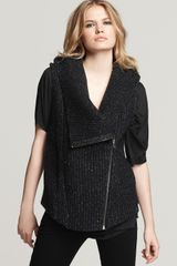 Helmut Lang Hooded Sleeveless Boiled Wool Vest - Lyst