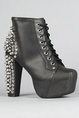 Jeffrey Campbell The Lita Spike Shoe in Black with Silver Studs