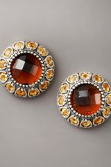 Konstantino Cognac Quartz Stud Earrings - Lyst