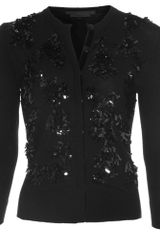 L'Wren Scott Fringed Sequin Cardigan