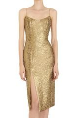 L'Wren Scott Jacquard Slip Dress - Lyst