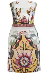 Mary Katrantzou Strapless Dress - Lyst