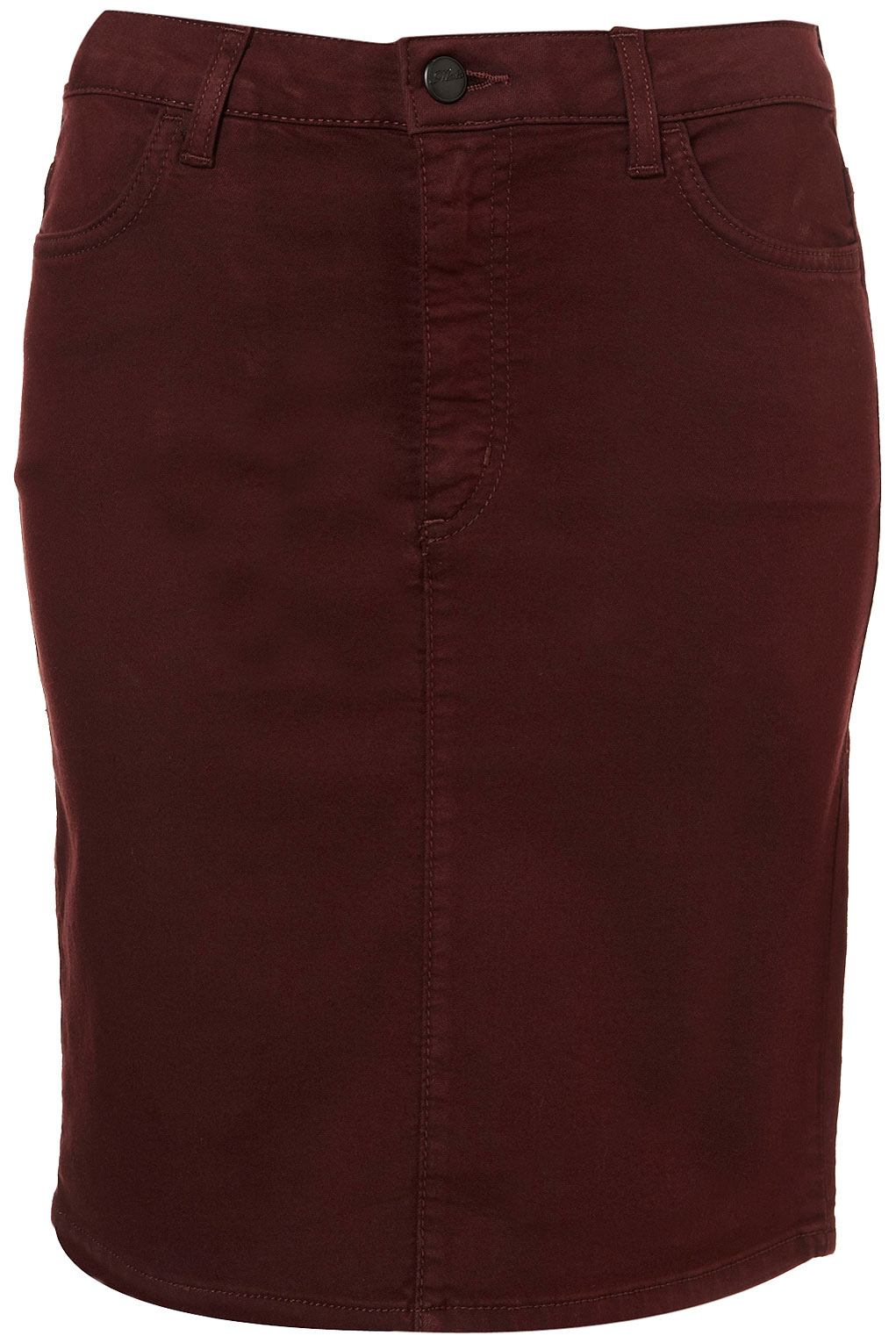Topshop Denim Pencil Skirt in Purple | Lyst