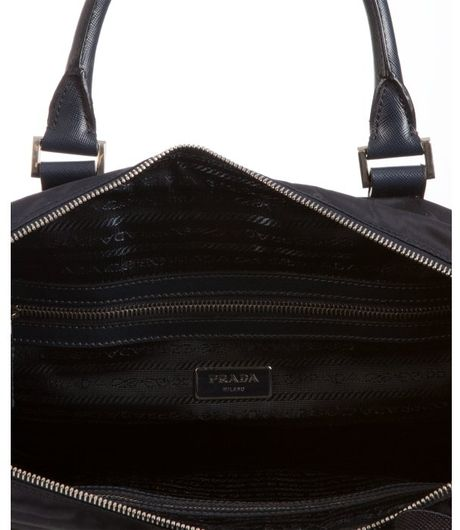 Prada Womens Tessuto Nylon & Saffiano Leather Trim