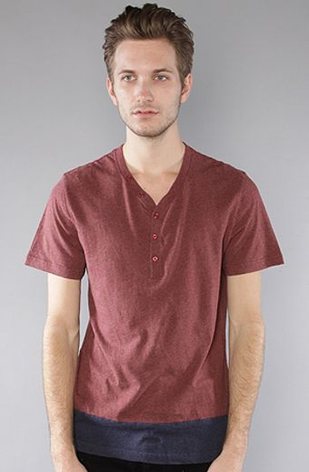 The Scifen Company The Collins Henley in Red - Lyst