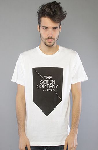 The Scifen Company The Arrow Tee in White - Lyst