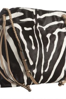 Valentino Black and White Zebra Print Shoulder Bag - Lyst