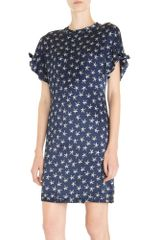 Yves Saint Laurent Short Sleeve Dress - Lyst
