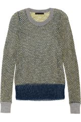 Alexander Wang Woven Bouclé and Mesh Sweater - Lyst