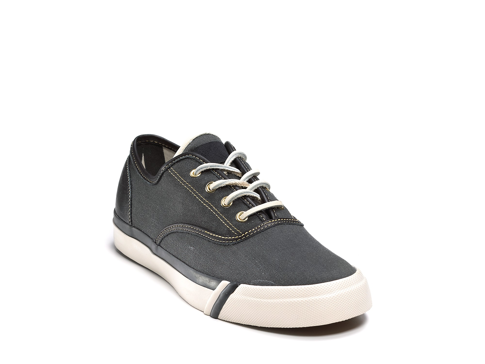 59169d81e6bc0 Lyst - Ash Pro-keds Royal Cvo Washed Twill leather Sneaker in Black ...