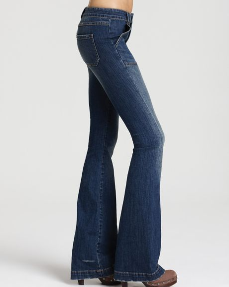 Mother Patch Pocket Flare Jeans