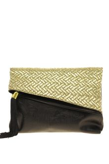 ASOS Collection Asos Metallic Jaquard Foldover Clutch - Lyst
