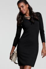 Bloomingdale's C By Cashmere V-neck Dress - Lyst