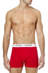 Calvin Klein Three-pack Cotton-blend Boxer Briefs - Lyst