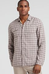 Converse Black Canvas Double Cloth Classic Fit Plaid Sport Shirt - Lyst