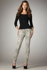 Current/Elliott Boa-print Skinny Jeans, Canvas - Lyst