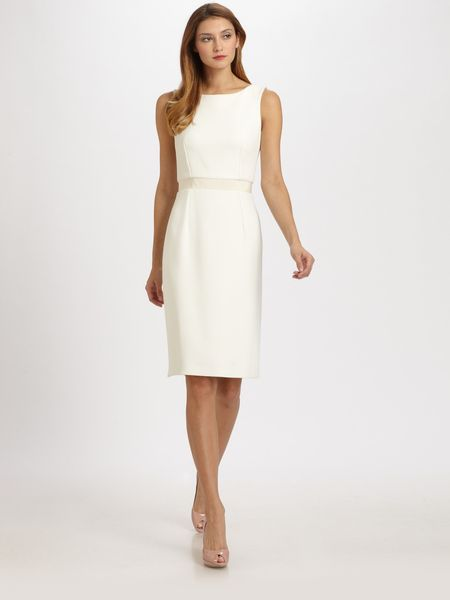 Dior Shantung Dress in White - Lyst