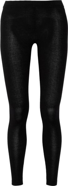 Donna Karan New York Knitted Jersey Leggings - Lyst