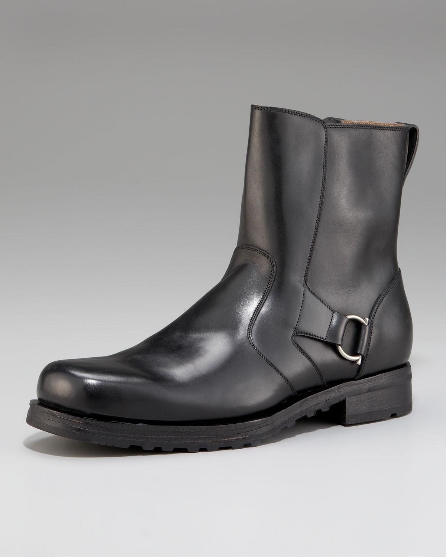3e28452916c Ferragamo Cory Side-buckle Boot in Black for Men - Lyst