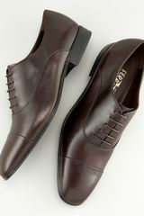 Ferragamo Fantino Lace-up Shoe, Tmoro - Lyst