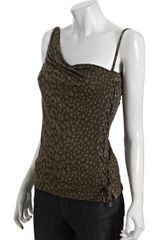 Gucci Forest Leopard Jersey Asymmetrical Lace-up Top - Lyst