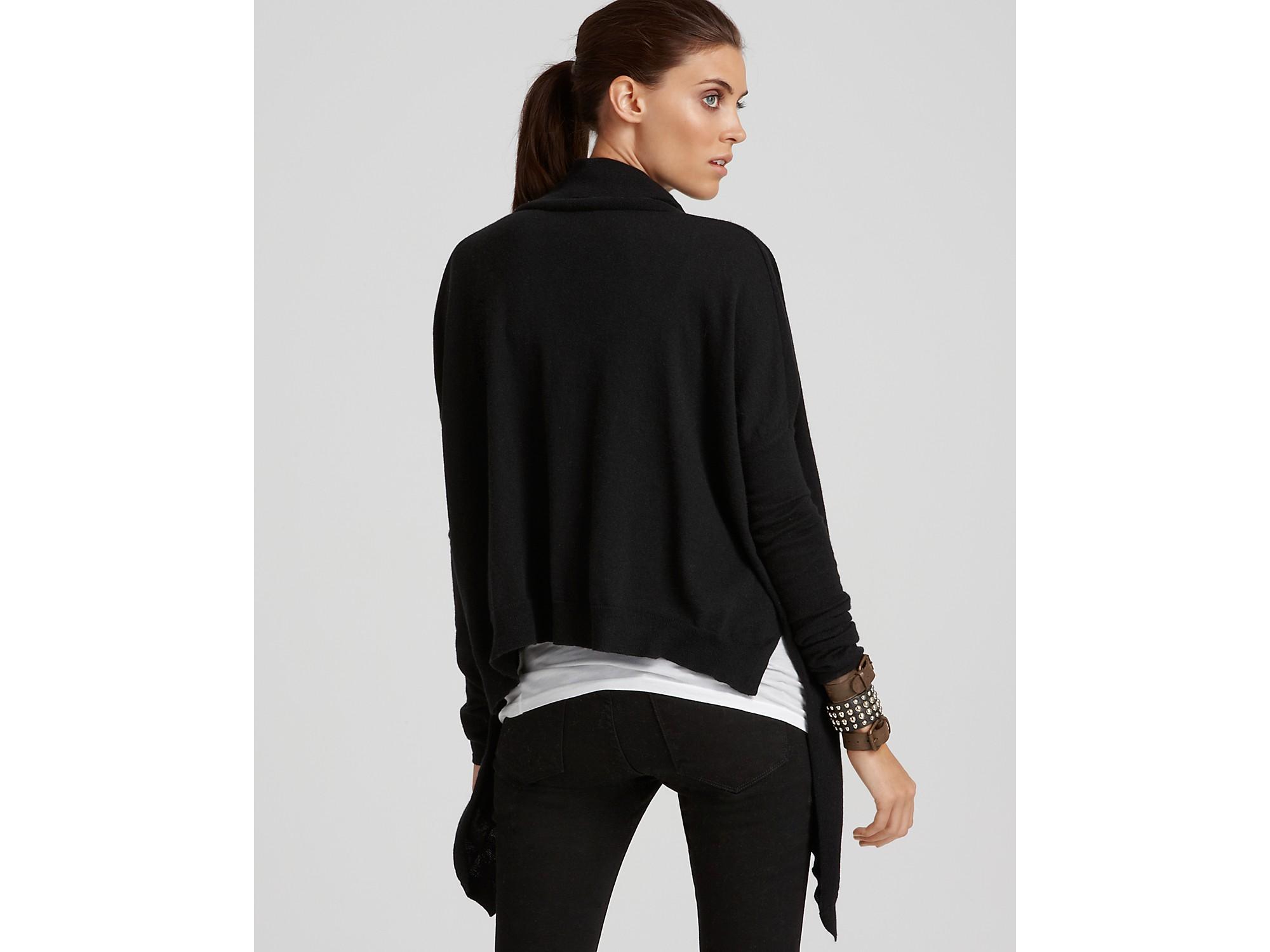 Helmut lang Oversized Cowlneck Sweater in Black | Lyst