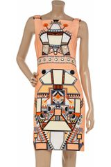 Holly Fulton Panama Printed Cotton Dress in Orange - Lyst