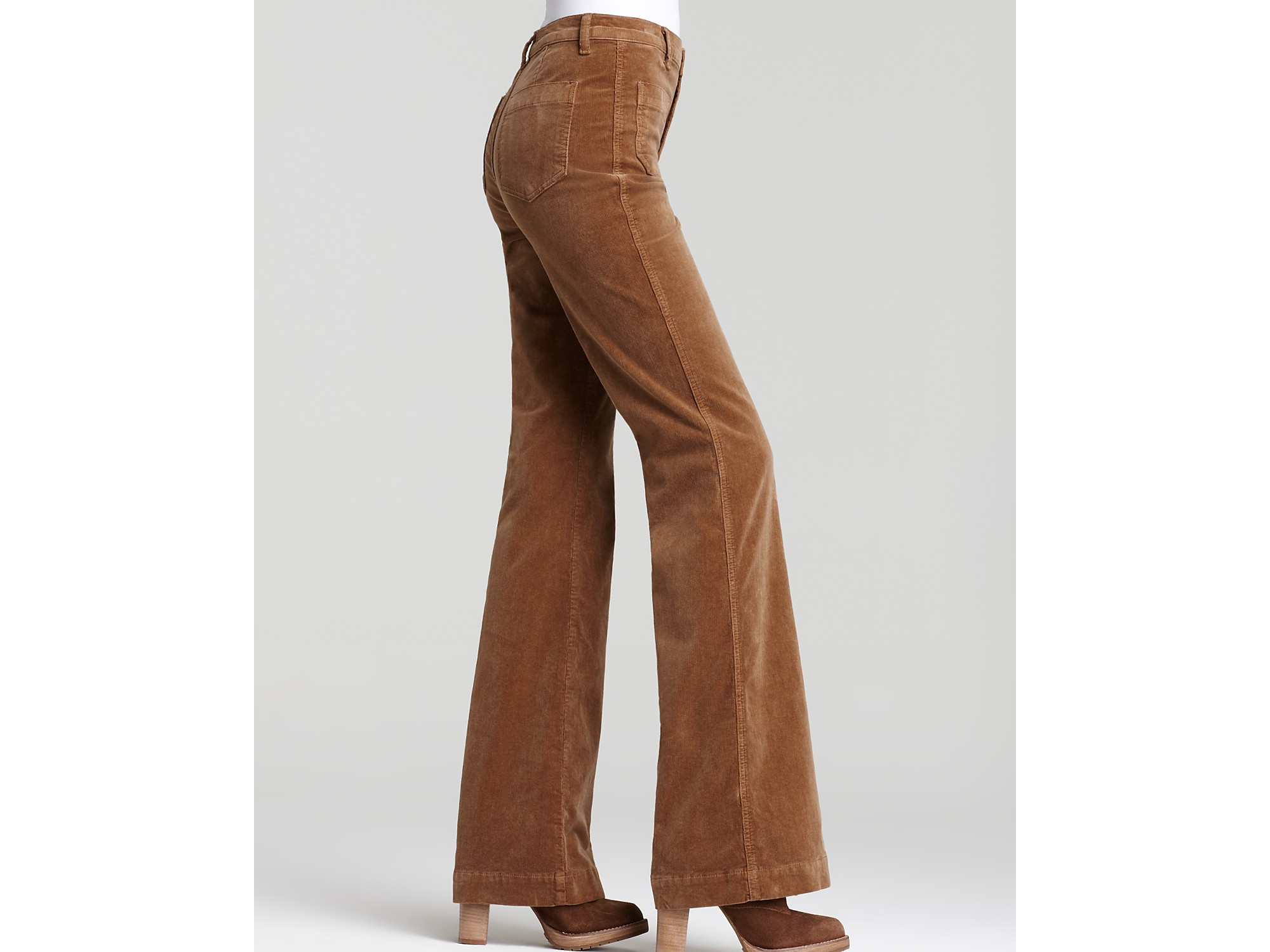 J brand Ali High Rise Wide Leg Corduroy Pants in Natural | Lyst