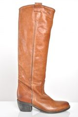 Lama Peach Randy Knee Length Boots  in Brown (tan) - Lyst