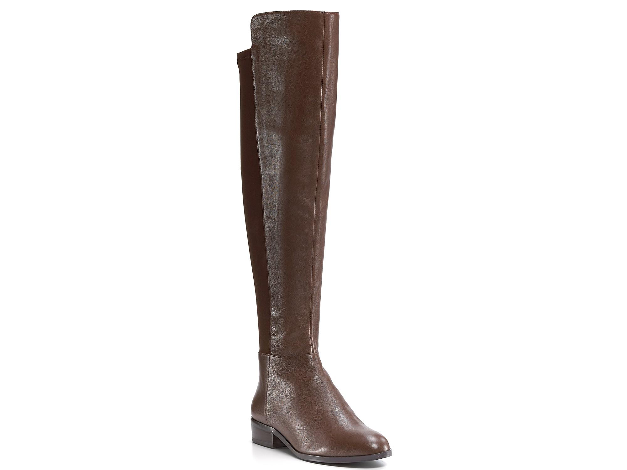 michael kors michael bromley flat boots in brown mocha
