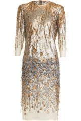Prabal Gurung Beaded Feather Dress