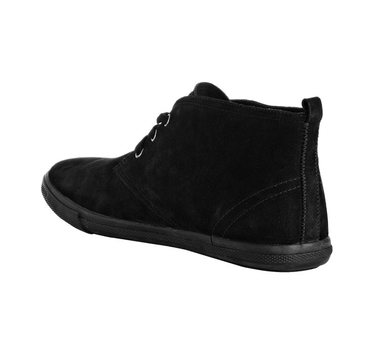 Prada Sport Black Suede Lace Up Ankle Boots in Black for Men | Lyst