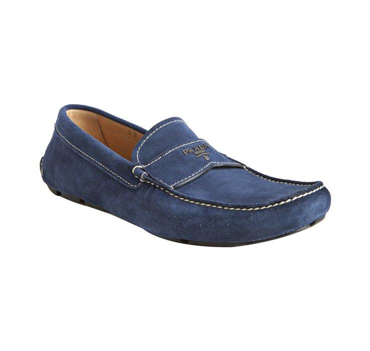 Leather Blue Prada Shoes