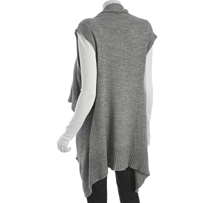 Robert rodriguez Heather Grey Sleeveless Long Draped Cardigan in ...
