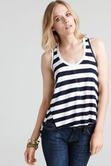 Sam & Lavi Ingrid Nautical Stripe Tie Back Tank - Lyst