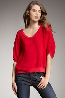 Splendid V-neck Boxy Top - Lyst