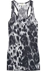 Stella McCartney Cheetah-print Cotton Tank - Lyst
