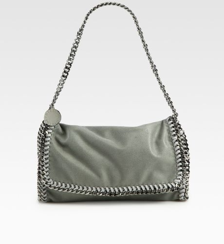 Stella Mccartney Falabella Clutch in Gray (lightgrey) - Lyst