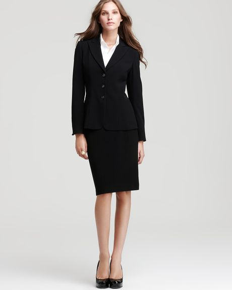 t tahari connor jacket and bellona pencil skirt in black